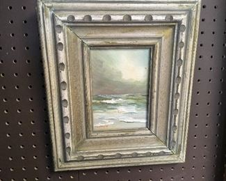 Oil on canvas by Dorothy Spangler. Approximately 4.5 inches by 6.5 inches. Low estimate $100