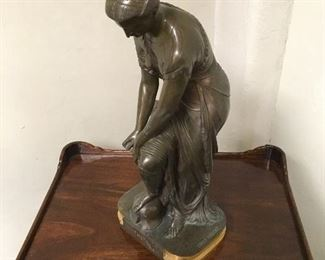 Bronze by Hebert. Approximately 20 inches tall. Low estimate $750