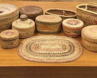 Makah baskets. Low estimate $500