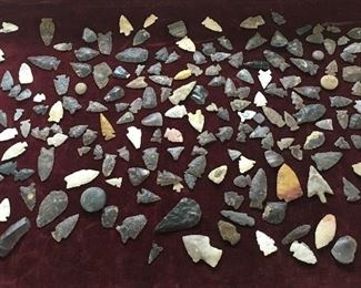 Arrowheads, approximately 300. Low estimate $300