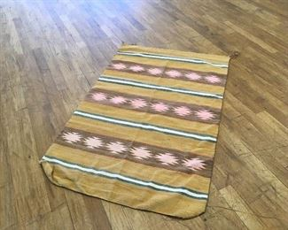 Navajo rug. Approximately 5 by 3 feet. Low estimate $150