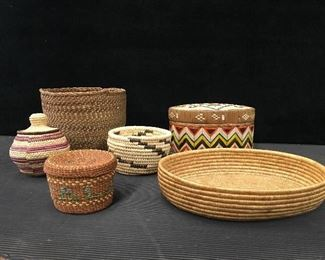 Native & North American baskets, Yupik, Papago, Chumash, Chehalis & Alaskan