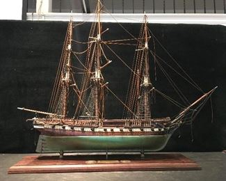 Ship model US. Frigate Constellation. Low estimate $300