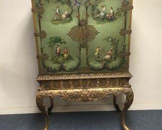 Hand painted cabinet. Low estimate $750