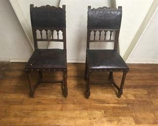 Mission chairs. Low estimate $300