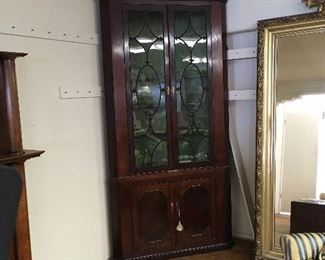 Period corner cabinet. Low estimate $600
