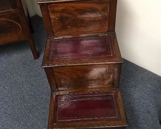 Regency library steps. Low estimate $250