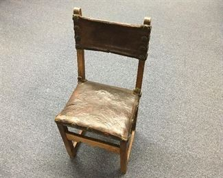 Mission chair. Late 18th or early 19th Century. Low estimate $350