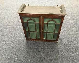Period display cabinet. Low estimate $150