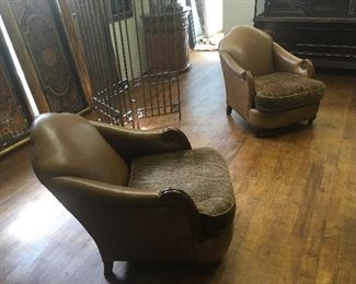 Leather chairs. Low estimate $300