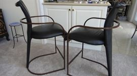Contemporary, modern, Counter Height bar stools, 2.  Matching bar height  stools, 4.