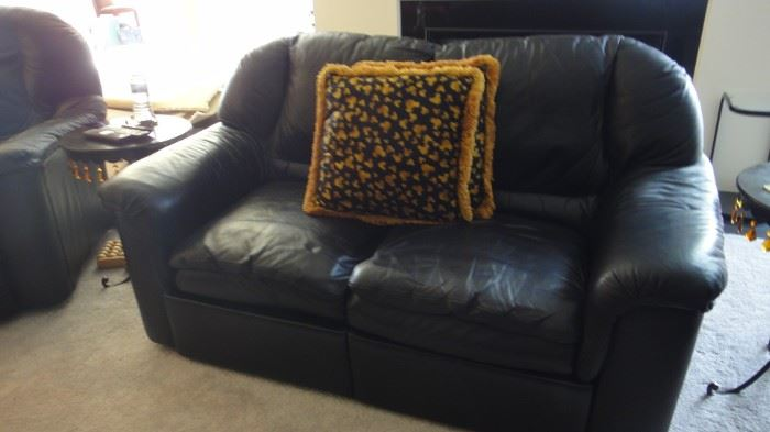 Matching Leather Sofa, 2  reclining Love seats, 2 reclining  chairs, & ottoman . Purchased from Merchandise Mart.