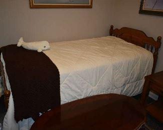 TWIN BED (PLASTIC ON MATTRESS)