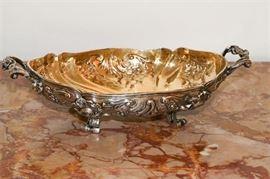 2. Antique German .800 Silver Baroque Dish