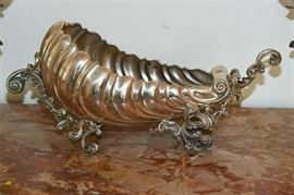 4. Antique .800 Silver Nautilus Form Bowl or Planter
