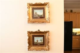8, Pair of Landscape Paintings by E. CREON