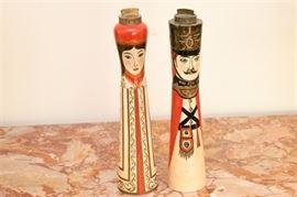 9. Pair of MidCentury Vintage Figural Salt  Pepper Shakers