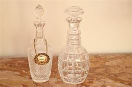 10. Two 2 Cut Crystal Decanters