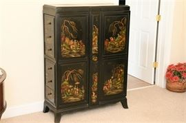 11. Vintage Chinese Lacquer Tall Chest