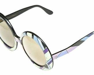 4. Emilio Pucci Vintage Oversized Psychedelic Sunglasses