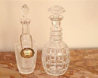 16. Two 2 Cut Crystal Decanters