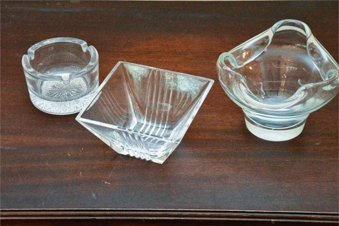 32. Three 3 Crystal Bonbon Dishes, including by TIFFANY  Co,