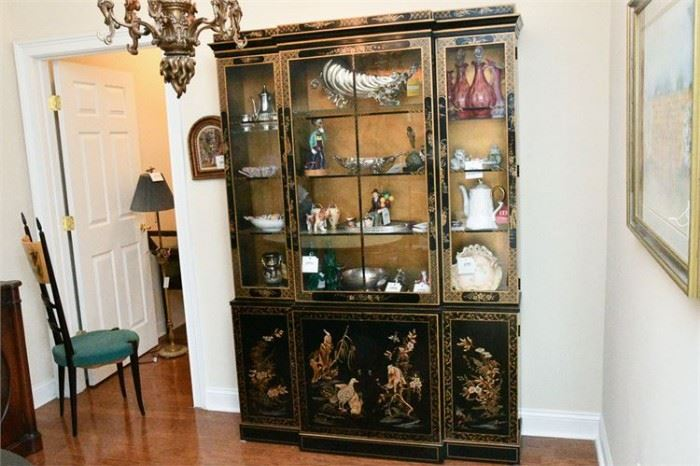 38. Georgian Style Chinoiserie Breakfront