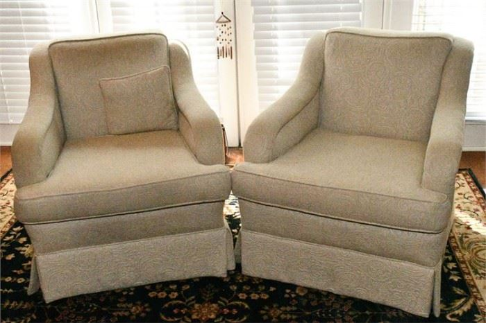 47. Pair of Club Chairs