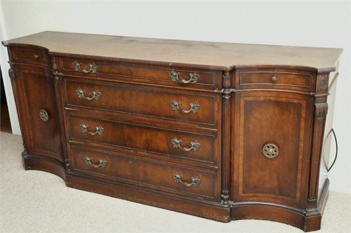 59. Regency Style Mahogany Console Cabinet