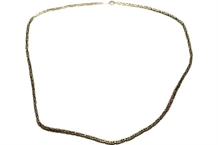 60. 14 K Yellow Gold Mesh Box Link Neck Chain