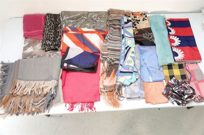 62. Group Lot of Ladys Scarves