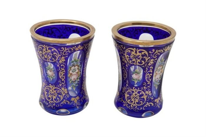 83. Pair of Bohemian Glass Beakers