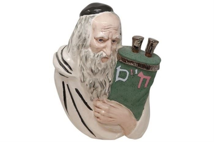 93. Ceramic Figure of a Rabbi
