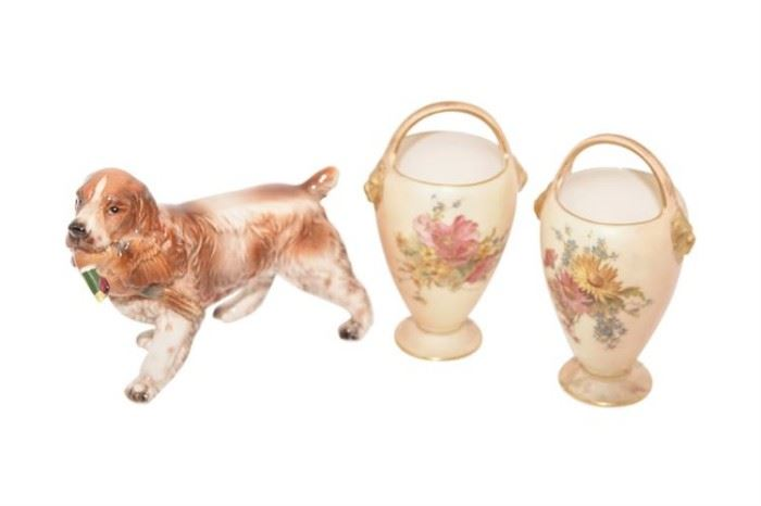 97. Pair of ROYAL WORCESTER Urns