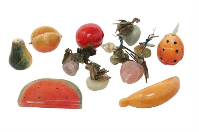 100. Assortment of Hardstone Fruits