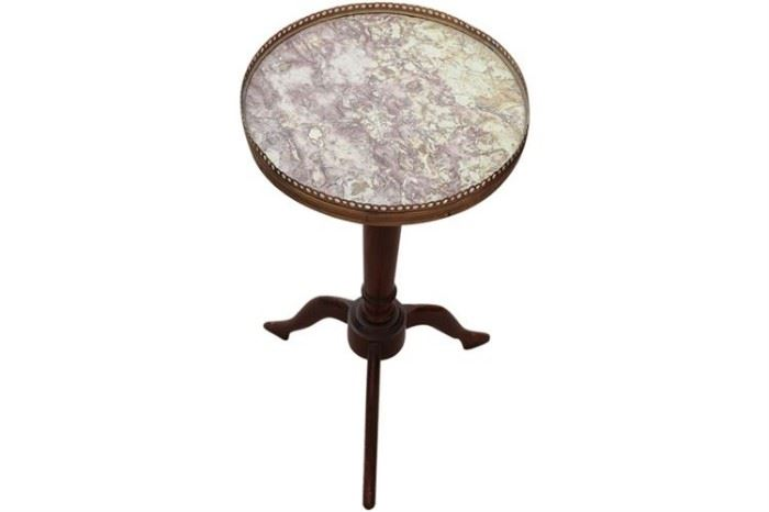 156. French Style Marble Top Occasional Table