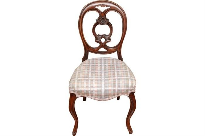 163. Victorian Balloon Back Side Chair