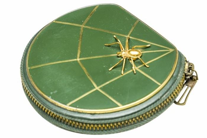 176. Vintage Sewing Kit With Spider Motif