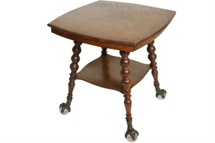 184. American Victorian Oak Parlor Table
