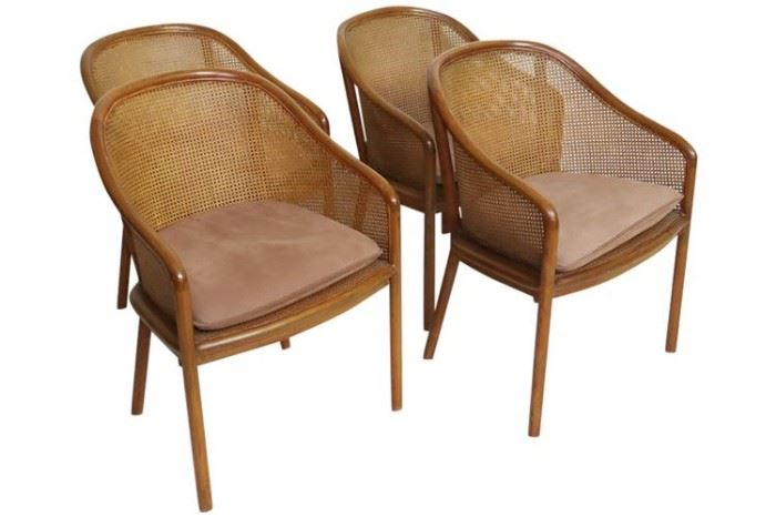 188. Four Modern Came Back Chairs