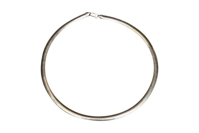 204. 17 Inch Sterling Silver Necklace