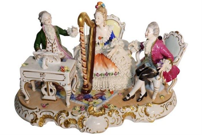 230. Dresden UNTER WEISS BACH Porcelain Musical Grouping