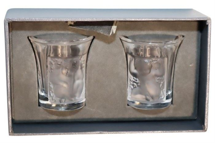 238. Two Lalique Glasses
