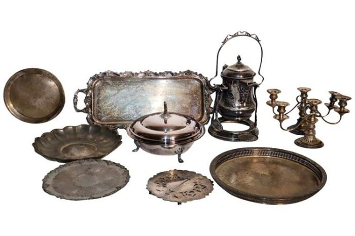 243. Group Lot of Silver Plated Items