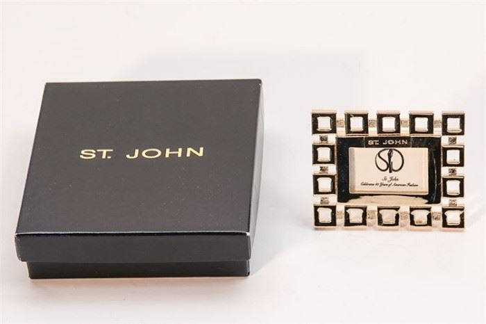 257. ST JOHN Picture Frame and Earrings