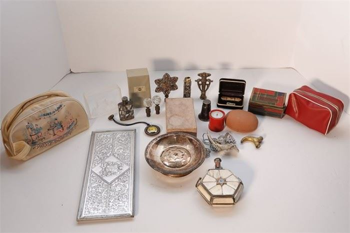 265. Group Of Silver Plate and Metal Other Objects