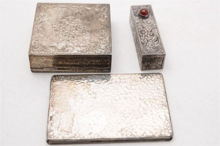 275. Lot of Three 3 Sterling Silver Ladys Pocketbook Items