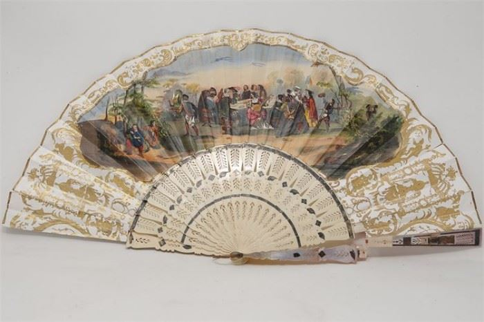 278. Antique HandPainted Fan