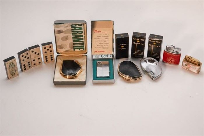279. Group Lot of Vintage Lighters and Match Safe
