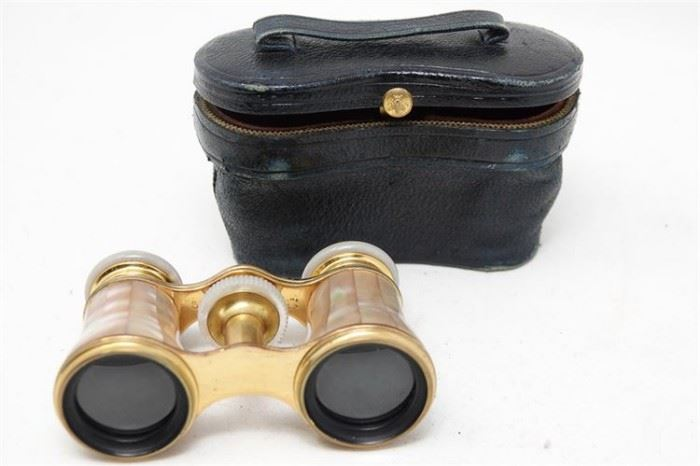 281. Pair Of Cased MotherOfPearl Opera Glasses